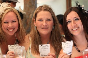 Imogen, Angela and Michelle pick a winner at the Melbourne Cup