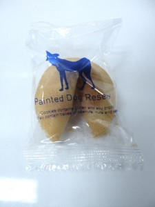 A Painted Dog Fortune Cookie
