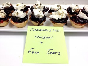Onion and Feta Tarts